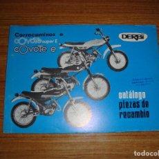Coches y Motocicletas: (TC-124) CATALOGO PIEZAS DE RECAMBIO DERBI CORRECAMINOS E COYOTE SUPER E COYOTE E. Lote 130081999