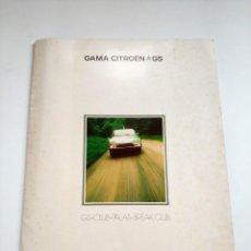 Coches y Motocicletas: CATALOGO DESPLEGABLE PUBLICIDAD CITROEN GS / CLUB / PALAS / BREAK CLUB AÑO 1975 EN CASTELLANO. Lote 130633326