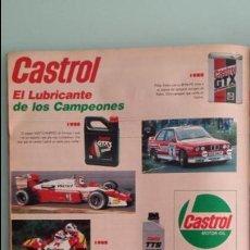 Coches y Motocicletas: ANUNCIO PUBLICIDAD CASTROL RACING BMW M3. Lote 130730529