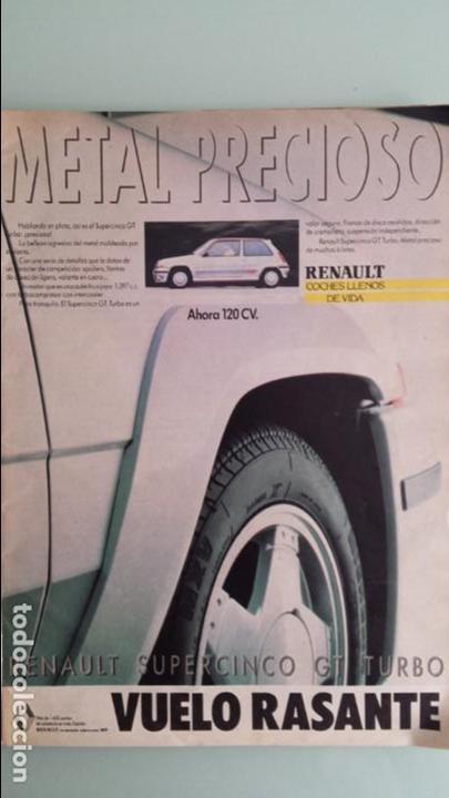 ANUNCIO PUBLICIDAD RENAULT 5 SUPERCINCO GT TURBO GRIS PLATA RARO (Coches y Motocicletas Antiguas y Clásicas - Catálogos, Publicidad y Libros de mecánica)