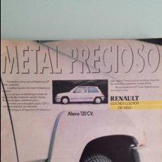 Coches y Motocicletas: ANUNCIO PUBLICIDAD RENAULT 5 SUPERCINCO GT TURBO GRIS PLATA RARO. Lote 130753772