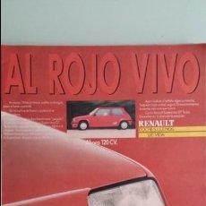 Coches y Motocicletas: ANUNCIO PUBLICIDAD RENAULT 5 SUPERCINCO GT TURBO ROJO. Lote 130753860