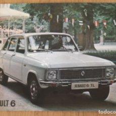 Automobili e Motociclette: FOLLETO CATÁLOGO PUBLICIDAD ORIGINAL RENAULT 6 TL DE 1975. Lote 130771980