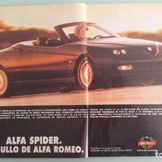 Coches y Motocicletas: ANUNCIO PUBLICIDAD ALFA ROMEO SPIDER. Lote 130807760