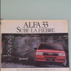 Coches y Motocicletas: ANUNCIO PUBLICIDAD ALFA ROMEO 33. Lote 130808356
