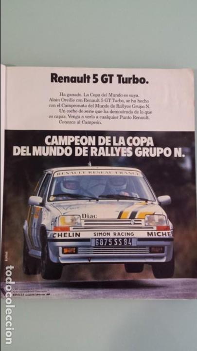 ANUNCIO PUBLICIDAD RENAULT 5 SUPERCINCO GT TURBO RALLYE (Coches y Motocicletas Antiguas y Clásicas - Catálogos, Publicidad y Libros de mecánica)