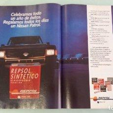 Coches y Motocicletas: ANUNCIO PUBLICIDAD REPSOL NISSAN PATROL. Lote 130808728