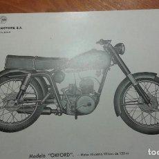 Coches y Motocicletas: MOTOCARRO HURACAN, ORIGINAL DE EPOCA. Lote 130881260