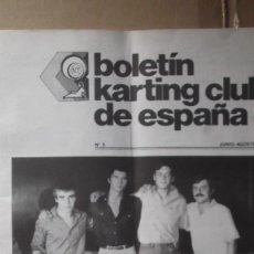 Coches y Motocicletas: REVISTA BOLETIN KARTING ESPAÑA NUMERO 5 JUNIO AGOSTO 1979 24 HORAS MONTJUITCH. Lote 131046580
