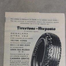 Coches y Motocicletas: CATALOGO ORIGINAL PUBLICIDAD NEUMATICOS FIRESTONE HISPANIA AÑOS 40 ?. Lote 131048532
