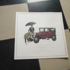 Coches y Motocicletas: ANTIGUA LAMINA CARTEL PUBLICITARIO COCHE OPEL - ORIGINAL AÑOS 60 - 33 X 33 CM . Lote 131115508