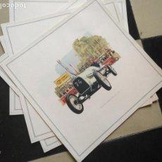 Coches y Motocicletas: ANTIGUA LAMINA CARTEL PUBLICITARIO COCHE OPEL ( MODELOS ANTIGUOS )- ORIGINAL AÑOS 60 - 33 X 33 CM . Lote 131115720