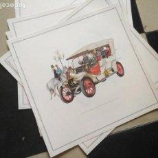 Coches y Motocicletas: ANTIGUA LAMINA CARTEL PUBLICITARIO COCHE OPEL ( MODELOS ANTIGUOS )- ORIGINAL AÑOS 60 - 33 X 33 CM . Lote 131115748