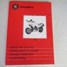 Coches y Motocicletas: CATALOGO PIEZAS DE RECAMBIO GILERA 125 KZ - ITALIANO FRANCES INGLES ALEMAN. Lote 131332202