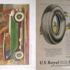 Coches y Motocicletas: ANTIGUA PUBLICIDAD HOJA REVISTA: THE GREAT JORDAN LINE EIGHT TOURING; US ROYAL BALLOONS. 1925. Lote 131817258