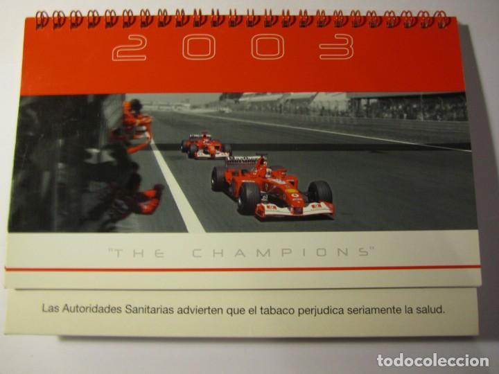 CALENDARIO SOBREMESA F1 FERRARI MALBORO AÑO 2003 THE CHAMPIONS (Coches y Motocicletas Antiguas y Clásicas - Catálogos, Publicidad y Libros de mecánica)