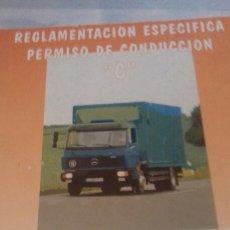 Coches y Motocicletas: REGLAMENTACIÓN ESPECÍFICA PERMISO DE CONDUCIR C. Lote 132132545