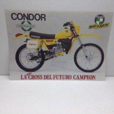 Carros e motociclos: FOLLETO PUBLICITARIO MOTO CONDOR PUCH - ORIGINAL. Lote 132296938