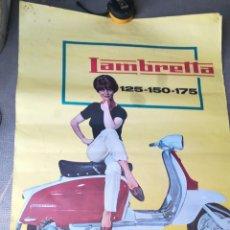Coches y Motocicletas: ANTIGUO CARTEL PUBLICIDAD LAMBRETTA. Lote 132301763