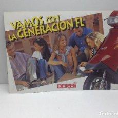 Coches y Motocicletas: FOLLETO PUBLICITARIO MOTO DERBI VAMOS FL - ORIGINAL . Lote 132303198