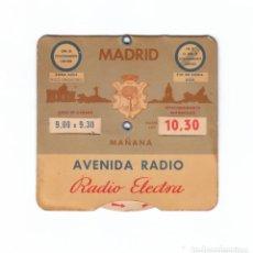 Carros e motociclos: ANTIGUO DISCO CONTROL DE APARCAMIENTO, MADRID. AUTO-RADIO, RADIO ELECTRA. 60S ESTACIONAMIENTO COCHE.. Lote 132874750