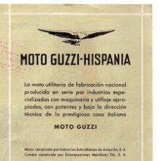 Coches y Motocicletas: MOTO GUZZI HISPANIA.CONCESIONARIO PARA IGUALADA Y COMARCA TALLERES CLARAMUNT. Lote 132899978