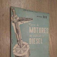 Coches y Motocicletas: CURSO DE MOTORES DE EXPLOSION Y DIESEL LECCION III 1960. Lote 132955622