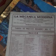 Coches y Motocicletas: LA MECANICA MODERNA HERRANIENTAS Y ESPECIALIDADES MECANICAS. Lote 133374614