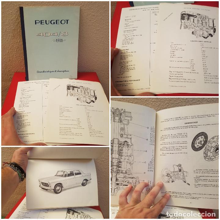LIBRO CATALOGO COCHE PEUGEOT 404 /8 1500 CONFORT CARACTERISTICAS TECNICAS TALLER CONCESIONARIO (Coches y Motocicletas Antiguas y Clásicas - Catálogos, Publicidad y Libros de mecánica)