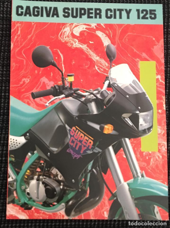 dda669debb27c FOLLETO CATALOGO PUBLICIDAD ORIGINAL CAGIVA SUPER CITY 125 (Coches y  Motocicletas Antiguas y Clásicas -