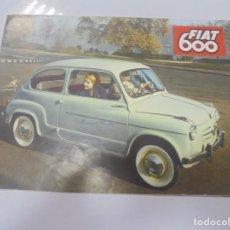Carros e motociclos: CATALOGO PUBLICITARIO. FIAT 600. CON DATOS TECNICOS, MECANICA, DESCRIPCION. VER FOTOS. Lote 133532542