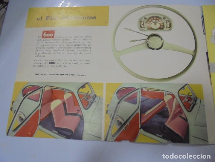 Coches y Motocicletas: CATALOGO PUBLICITARIO. FIAT 600. CON DATOS TECNICOS, MECANICA, DESCRIPCION. VER FOTOS - Foto 2 - 133532574