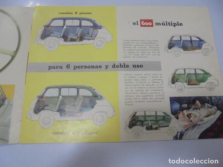 Coches y Motocicletas: CATALOGO PUBLICITARIO. FIAT 600. CON DATOS TECNICOS, MECANICA, DESCRIPCION. VER FOTOS - Foto 3 - 133532574