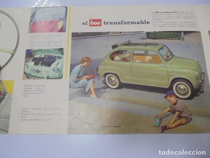 Coches y Motocicletas: CATALOGO PUBLICITARIO. FIAT 600. CON DATOS TECNICOS, MECANICA, DESCRIPCION. VER FOTOS - Foto 4 - 133532574