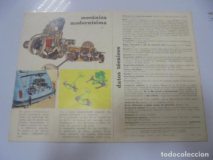Coches y Motocicletas: CATALOGO PUBLICITARIO. FIAT 600. CON DATOS TECNICOS, MECANICA, DESCRIPCION. VER FOTOS - Foto 6 - 133532574