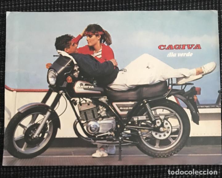 f23c6ff7b9daf FOLLETO CATALOGO CAGIVA ALA VERDE (Coches y Motocicletas Antiguas y  Clásicas - Catálogos