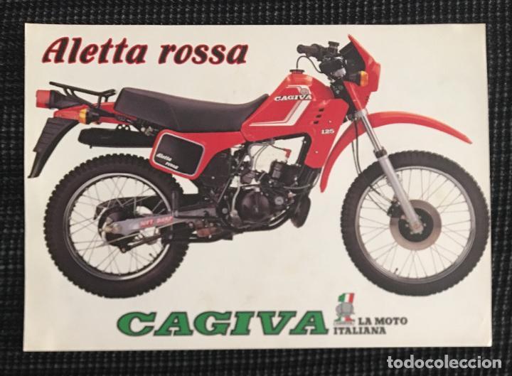 d7b25bfe69146 FOLLETO CATALOGO CAGIVA ALETTA ROSSA Y GAMA CAGIVA (Coches y Motocicletas  Antiguas y Clásicas -