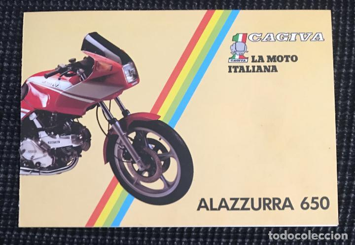 42123a17b7189 FOLLETO CATALOGO CAGIVA ALAZZURRA 650 (Coches y Motocicletas Antiguas y  Clásicas - Catálogos