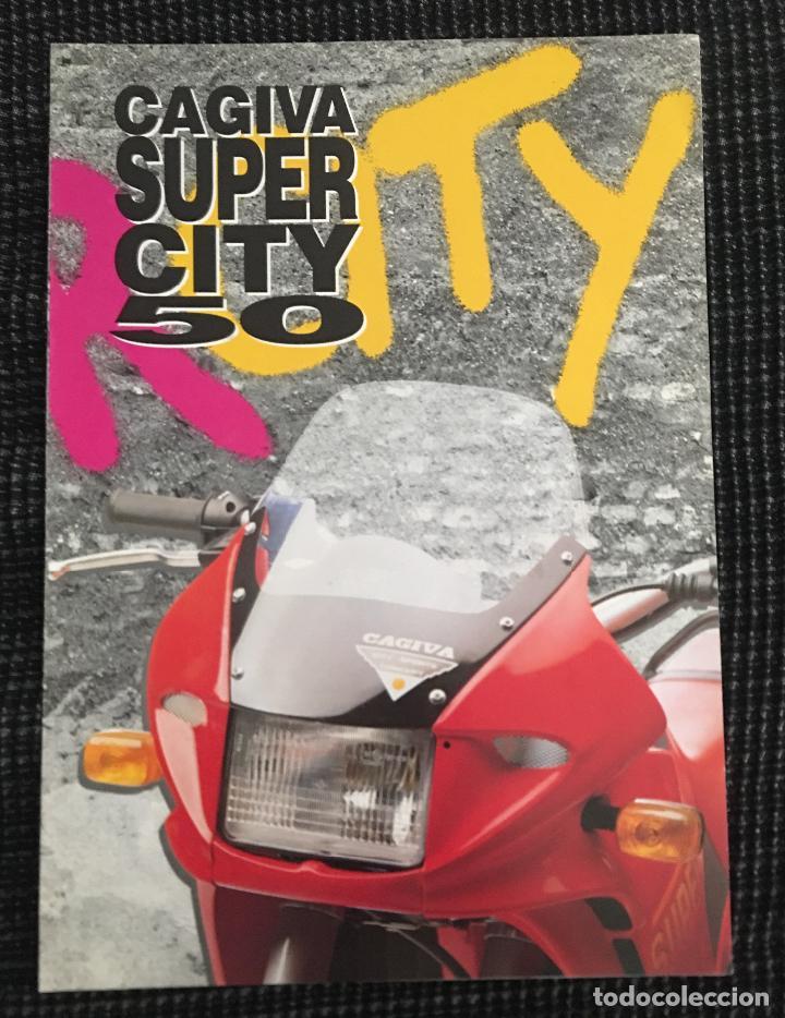 a7254775ef34c FOLLETO CATALOGO PUBLICIDAD ORIGINAL CAGIVA SUPER CITY 50 (Coches y  Motocicletas Antiguas y Clásicas -