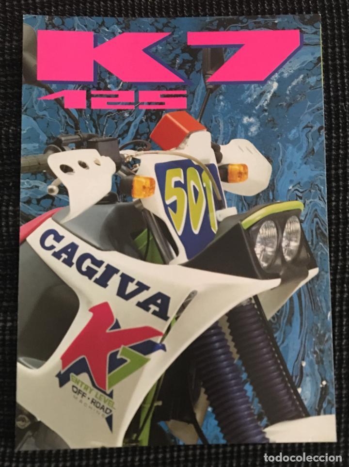 a4f1a73bd2637 FOLLETO CATALOGO PUBLICIDAD ORIGINAL CAGIVA K7 125 (Coches y Motocicletas  Antiguas y Clásicas - Catálogos