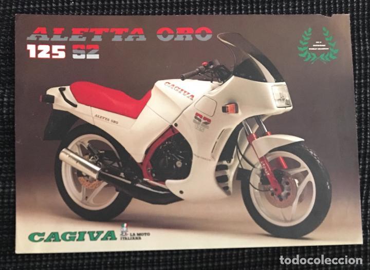 94aaf140f5603 FOLLETO CATALOGO PUBLICIDAD ORIGINAL CAGIVA ALETTA ORO 125 S2 (Coches y  Motocicletas Antiguas y Clásicas