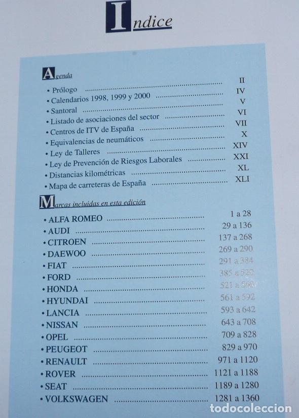 Coches y Motocicletas: Anuario gráfico de componentes del automóvil + Tiempos de reparación mecánica carrocería EINSA 1999 - Foto 2 - 133679730