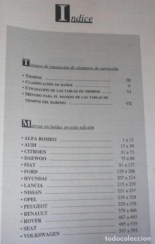Coches y Motocicletas: Anuario gráfico de componentes del automóvil + Tiempos de reparación mecánica carrocería EINSA 1999 - Foto 9 - 133679730
