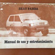 Coches y Motocicletas: MANUAL SEAT PANDA USO Y ENTRETENIMIENTO. Lote 133922198