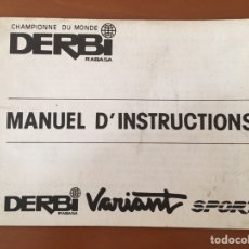Coches y Motocicletas: MANUEK D'INSTRUCTIONS DERBI VARIANT MOTO MANUAL INSTRUCCIONES FRANCÉS. Lote 133924594