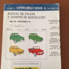 Coches y Motocicletas: MANUAL DE TALLER GUIA TASACIONES SERIE A CITROEN 2 CV DYANE MEHARI C 8 1980. Lote 133935933