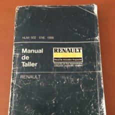 Coches y Motocicletas: MANUAL DE TALLER RENAULT 1988 R4 R5 Y 7 R6 R8 R12 R14 R18 R SUPERCINCO R 9 Y 11 R 21. Lote 133942455