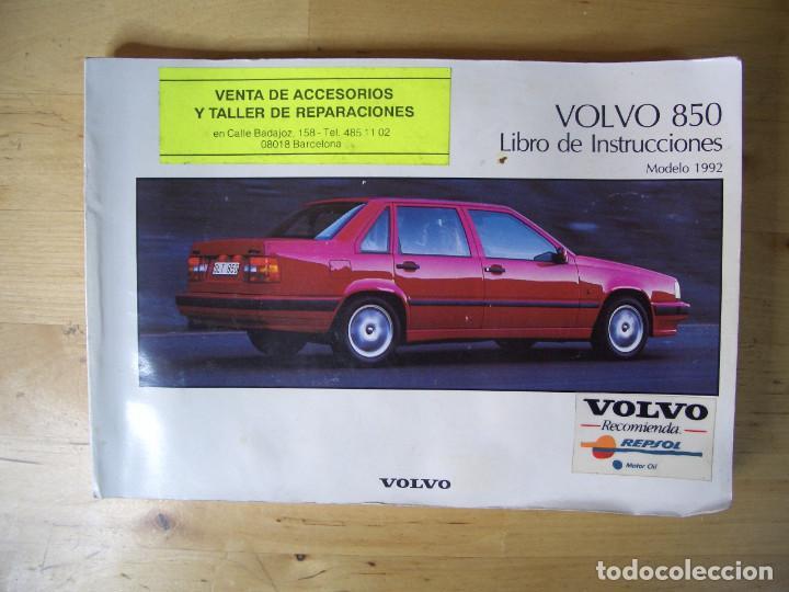VOLVO 850 LIBRO INSTRUCCIONES MANUAL TP3290/1 (Coches y Motocicletas Antiguas y Clásicas - Catálogos, Publicidad y Libros de mecánica)