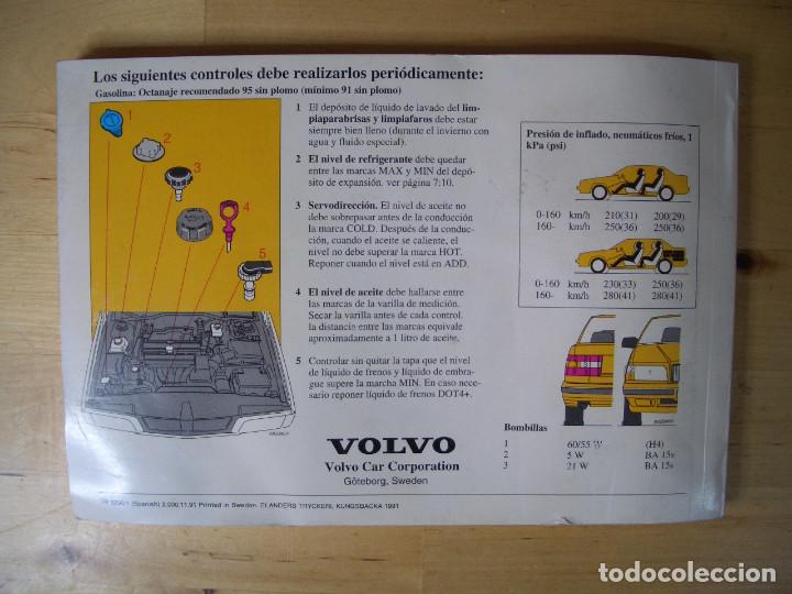 Coches y Motocicletas: VOLVO 850 LIBRO INSTRUCCIONES MANUAL TP3290/1 - Foto 2 - 134197082