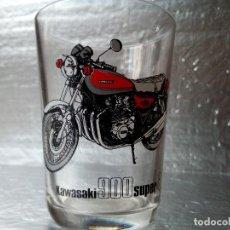 Coches y Motocicletas: -KAWASAKI 900 SUPER 4-VASO DE CRISTAL DE PUBLICIDAD -MADE IN FRANCE- AÑOS 70-RARO. Lote 134306778